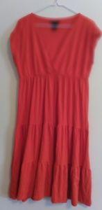 🌞NY and Company Orange Peasant Dress Size Large